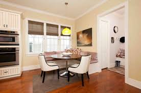 corner banquette with round table of also breakfast nook images