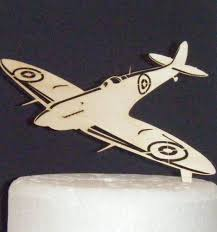 airplane cake topper spitfire cake topper