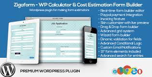 zigaform v2 7 wordpress calculator cost estimation form