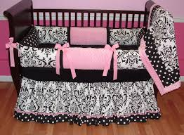 girls black and white bedding baby nursery great baby nursery room decoration using black