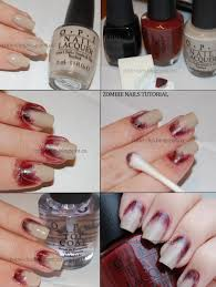 tutorial for zombie nails costume inspirations pinterest