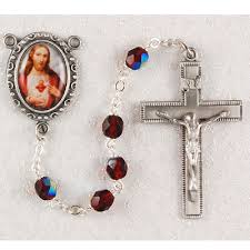 sacred heart rosary sacred heart of jesus personalized engraved rosary