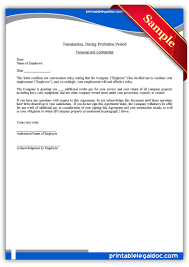 Termination Letter From Employer To Employee by Free Printable Termination Regular Employee Form Generic