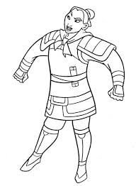 mulan soldier uniform coloring download u0026 print
