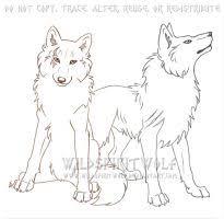 nemodab wolf sketch commission by wildspiritwolf on deviantart