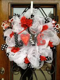 White Deco Mesh Valentine Wreath White Deco Mesh Wreath By Creativedoordeco