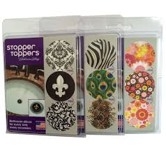 stopper toppers set of 9 bathroom sink topper decor page 1 u2014 qvc com