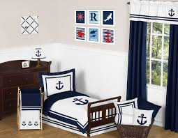 girls nautical bedding sweet jojo designs anchors away nautical toddler bedding 5pc set