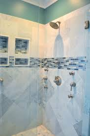 ceramic tile bathroom designs beautiful walk in shower with gray ceramic tile with aqua and