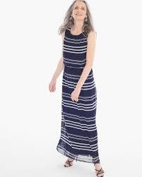 chico u0027s women u0027s bi color stripe maxi dress blue white size 4
