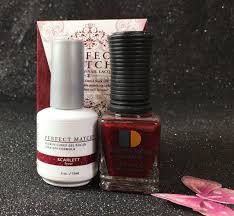 lechat scarlett perfect match gel polish u0026 nail lacquer pms192 i