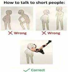 Short People Meme - how to talk to tall people tall people short people and meme