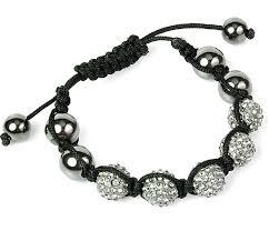 bracelet crystal string images Swarovski crystal disco ball friendship bracelet smokey black with jpg