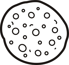 Cookie Pizza Coloring Page Disabilities Pinterest Pizzas Coloring Cookies