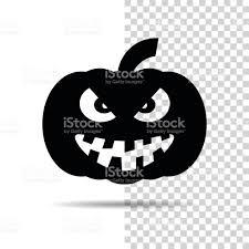 halloween pumpkin icon isolated over white and transparent
