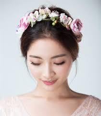 hair decorations bridal flower headband garland artificial wedding bouquets fabric