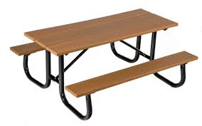 Recycled Plastic Furniture 6 Ft Heavy Duty Recycled Plastic Picnic Table With Welded