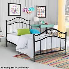 Steel Headboards For Beds Twin Full Size Metal Bed Platform Frame Bedroom Heavy Duty Steel