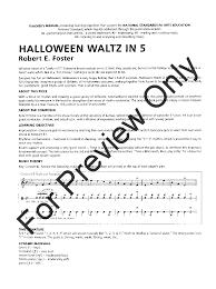 halloween waltz in 5 by robert e foster j w pepper sheet music