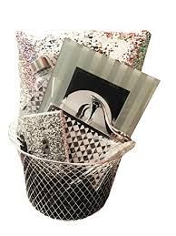 mermaid easter basket sparkle shine black and silver gift basket with