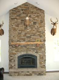 refacing fireplace with stacked stone veneer decorations picture