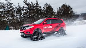 2016 nissan pathfinder 2016 nissan pathfinder winter warrior concept on tracks in snow