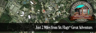 Six Flags Address Nj Crystal Springs Wilderness Resort U2013 Luxury Wilderness Cabins In