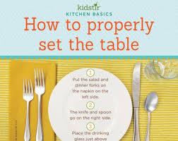 how do you set a table properly kids set the table kidstir