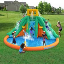 magic time twin peaks kids inflatable splash pool backyard water