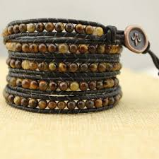 girls leather bracelet images 4mm round wolf stone bracelet women leather bracelet natural wolf jpg
