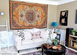 rug wall art how to hang a rug like a tapestry made in a day