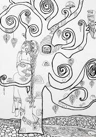 coloring for grown ups u201ctree dreams u201d art print u2013 nyx martinez