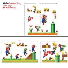 Super Mario Bedroom Decor Aliexpress Com Buy Super Mario Wall Sticker Removable Cartoon