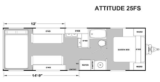 attitude toy hauler floor plans new 2017 eclipse attitude metal 25fs toy hauler travel trailer at