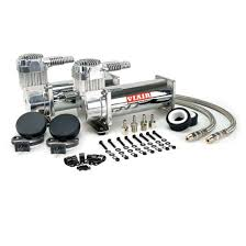 viair 44442 dual air suspension compressor kit 444c black