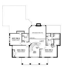 colonial style house plan 4 beds 3 50 baths 3140 sq ft plan 40 190 colonial style house plan 4 beds 3 50 baths 3140 sq ft plan 40
