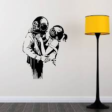 love deep banksy wall sticker by mirrorin notonthehighstreet com love deep banksy wall sticker