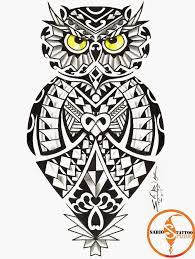 36 best maori owl tattoo designs shoulder images on pinterest