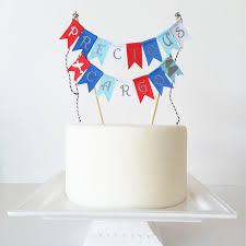 Cake Decorations For 1st Birthday 2nd Birthday Cake Topper Bunting Boy From Thebirthdaystudio On