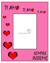 cornice per bambini disegno di cornice per innamorati a colori per bambini con cornici