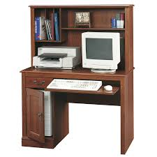 Computer Desk With Hutch Cherry Shop Sauder Camden County Country Computer Desk At Lowes