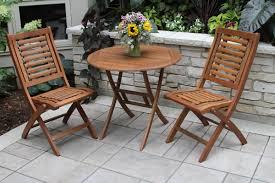 Patio Bistro Table by 3 Piece Davis Eucalyptus Patio Bistro Set Joss U0026 Main