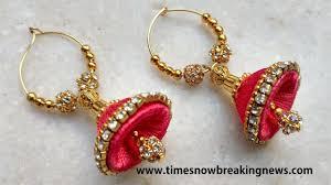 bridal jhumka earrings how to make bridal jhumkas at home tutorials