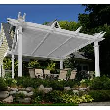 Louvered Roof Pergola by Brandenburg 12 U0027 X 12 U0027 Louvered Vinyl Pergola