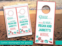 wedding door hanger template wedding door hanger template seashell coral teal