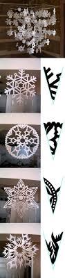 handmade paper snowflake garland 3d snowflakes