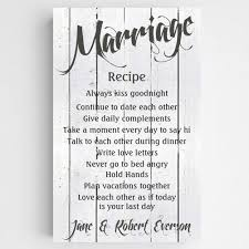 second marriage wedding gifts personalized marriage recipe canvas anniversary gifts