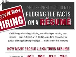 the dishonest tradition of fudging the facts on a résumé lying on resumes infographics mania