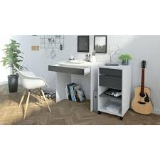 bureau gris blanc bureau gris et blanc function plus bureau contemporain daccor