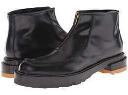 marni zip up ankle boot in black for men lyst